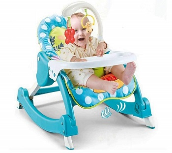 Baby Bucket Newborn 3 in 1 Toddler Rocker Cum Reclining Chair
