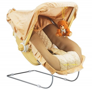 Goyals Musical Carry Plastic Cot Bouncer with Mosquito Net