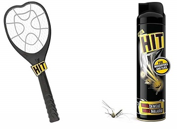 HIT Anti Mosquito Racquet and Spray