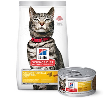 Hills Science Diet Adult Urinary and Hairball Control Cat Food