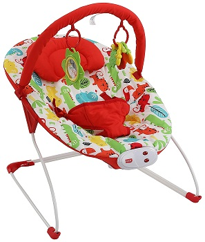 LuvLap Jungle Hop Baby Bouncer with Soothing Vibration and Music