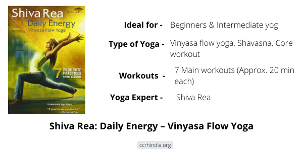 Shiva Rea Daily Energy Vinyasa Flow Yoga DVD Review