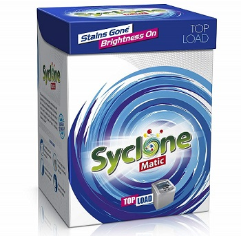 Syclone Matic Top Load Detergent Powder for Washing Machine