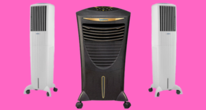 Three air coolers with different design and size