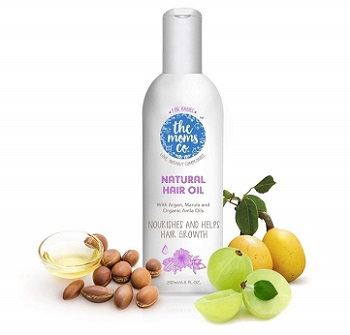 The Moms Co Natural Baby Hair Oil