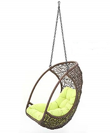 Urban Ladder Calabah Swing Outdoor Balcony Chair with Long Chain