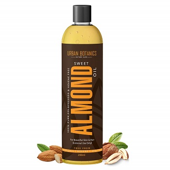 UrbanBotanics Pure Cold Pressed Sweet Almond Oil for Hair and Skin