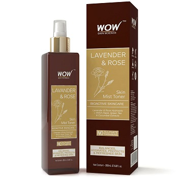 WOW Lavender and Rose No Parabens and Sulphate Skin Mist Toner
